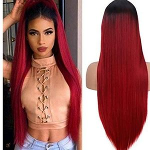 OMBRE WINE RED WIG
